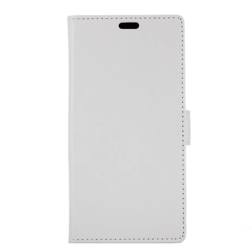 Чехол книжка для Huawei P10 Plus боковой с отсеком для визиток, Гладкая кожа, белый