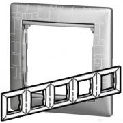 Рамка 5-местная универсальная (горизонтальная / вертикальная), алюминий модерн, Legrand Valena Легранд Валена