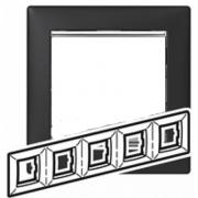 Рамка 5-місцева універсальна (горизонталь / вертик), ноктюрн / срібний штрих, Legrand Valena Легранд Валена