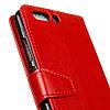Чехол книжка для Huawei P10 Plus боковой с отсеком для визиток, Гладкая кожа, красный, фото 7