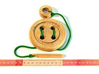 Деревянная игрушка Шнуровка Пуговица