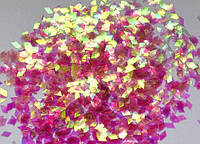 "Ромбики для эффекта ""Битое стекло"" (цвет яркий прозрачно-розовый)"