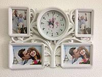 Фоторамка коллаж на стену Family Tree с часами