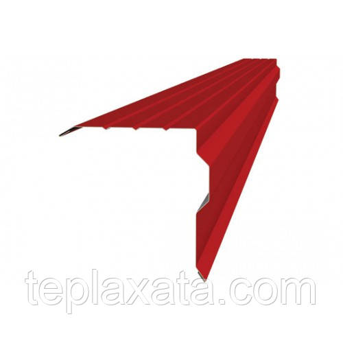 ОПТ - Торцевая планка ПТ-2 Акваизол Ре (2 м) красный, зеленый, серый