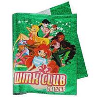 Обложка для тетрадей Winx Club (35х21см) голограмма (зелен)