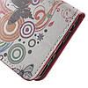 Чехол книжка для Huawei P10 Plus боковой с отсеком для визиток, Butterflies and Circles, фото 6