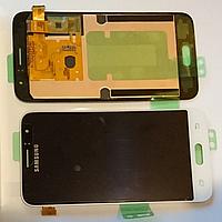 Оригинальный дисплей (модуль) + тачскрин (сенсор) для Samsung Galaxy J1 2016 SM-J120 J120F J120H (белый цвет)