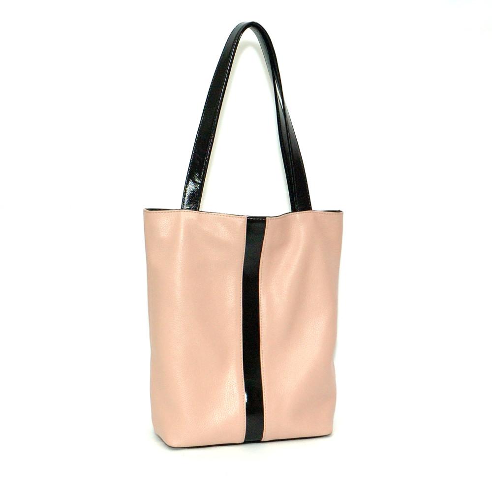 Кожаная сумка модель 27 пудра флотар - наплак, фото 1