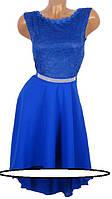 Роскошное платье с шифоновой юбкой (в расцветках)Размеры в наличии: 42-48