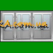 Двери входные ПВХ, окна ПВХ качественно Запорожье Андироба саман Светло-серый