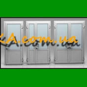 Двери входные ПВХ, окна ПВХ качественно Запорожье Андироба саман Бордовый