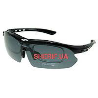 Очки защитные Oakley с поляризацией Polarized 2-lens Kit Black (две линзы)