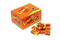 Жевательная резинка Love is  100 шт в ассортименте Ананас-апельсин