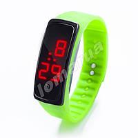 Электронные LED часы браслет Лайм