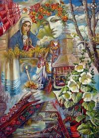украинские открытки, открытка украинка