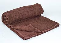 Полотенце для сауны махровое однотонное Туркменистан 100х150 коричневое B4-2-R