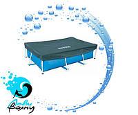 Защитный тент для прямоугольных каркасных бассейнов Intex 28039 размером 460х226 см