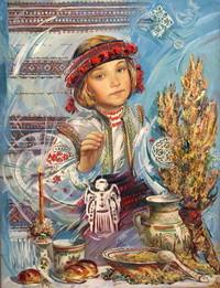открытка с девочкой, открытка с ангелочком