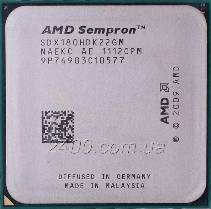 Процессор AMD Sempron 180 2.4 GHz (SDX180HDK22GM) 2000 MHz Socket AM3 1 MB