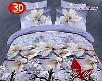 ТМ TAG Комплект постельного белья Зимний сад семейный