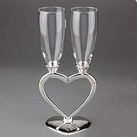 """Свадебные бокалы """"Половинки сердца"""""""