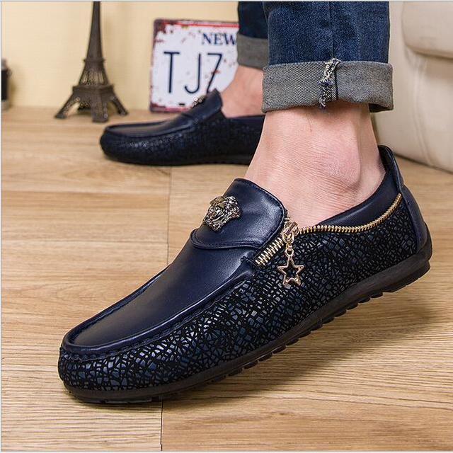 Мужские туфли без носков