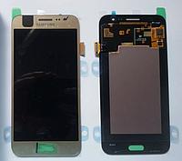 Оригинальный дисплей (модуль) +тачскрин (сенсор) для Samsung Galaxy J5 Duos SM-J500 J500F J500H (золотой цвет)