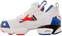 Мужские кроссовки Reebok Pump Fury Tiger Print White Red Blue