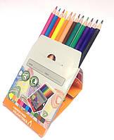 Набор карандашей цветных WE-TRI; 12 цв.; пласт. корпус