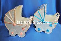 Реквизит для свадебного конкурса, коляски для денег на мальчика или девочку, персиковый декор