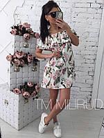 Женское красивое летнее платье с принтом