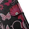 Чехол книжка для Huawei P10 Plus боковой с отсеком для визиток, Butterflies and Flowers, фото 7