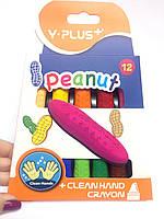Набор цветных восковых мелков «Чистые руки» 12цв.