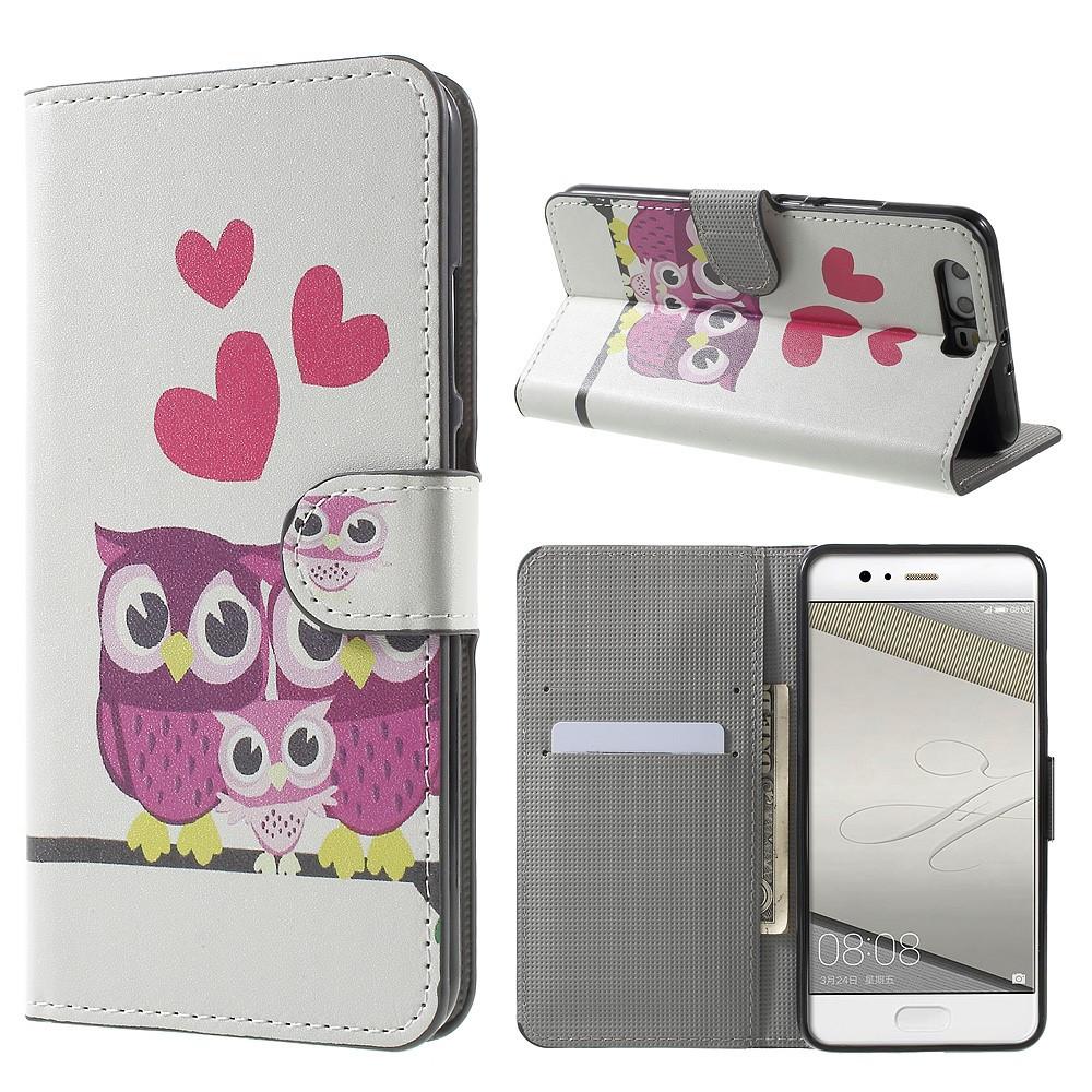 Чехол книжка для Huawei P10 Plus боковой с отсеком для визиток, Счастливая семья
