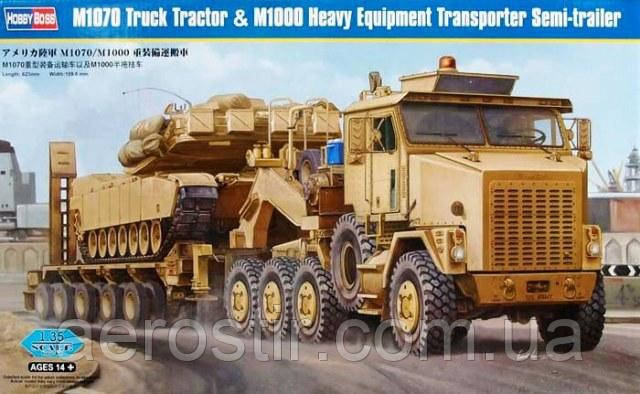 M1070 Truck Tractor & M1000 Heavy Equipment Transporter Semi-Trailer 1/35 HOBBY BOSS 85502