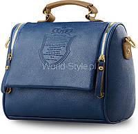 Синяя женская сумка с ремнем Shamsehajat