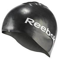 Силиконовая шапочка для плавания Рибок черная AJ6105