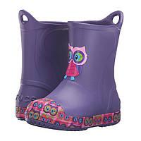 Сапоги Crocs Kids Bump It Graphic Rain Boot / детские резиновые дождевики с усиленным носком Фиолетовый, 33