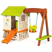 Игровой домик с горкой и качелей Forest Hut Smoby 810601