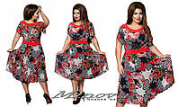 Летнее платье большого размера 52-58