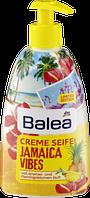 Жидкое крем-мыло для рук с дозатором Balea Creme Seife Jamaica Vibes - Ананас и цветок Фламинго.
