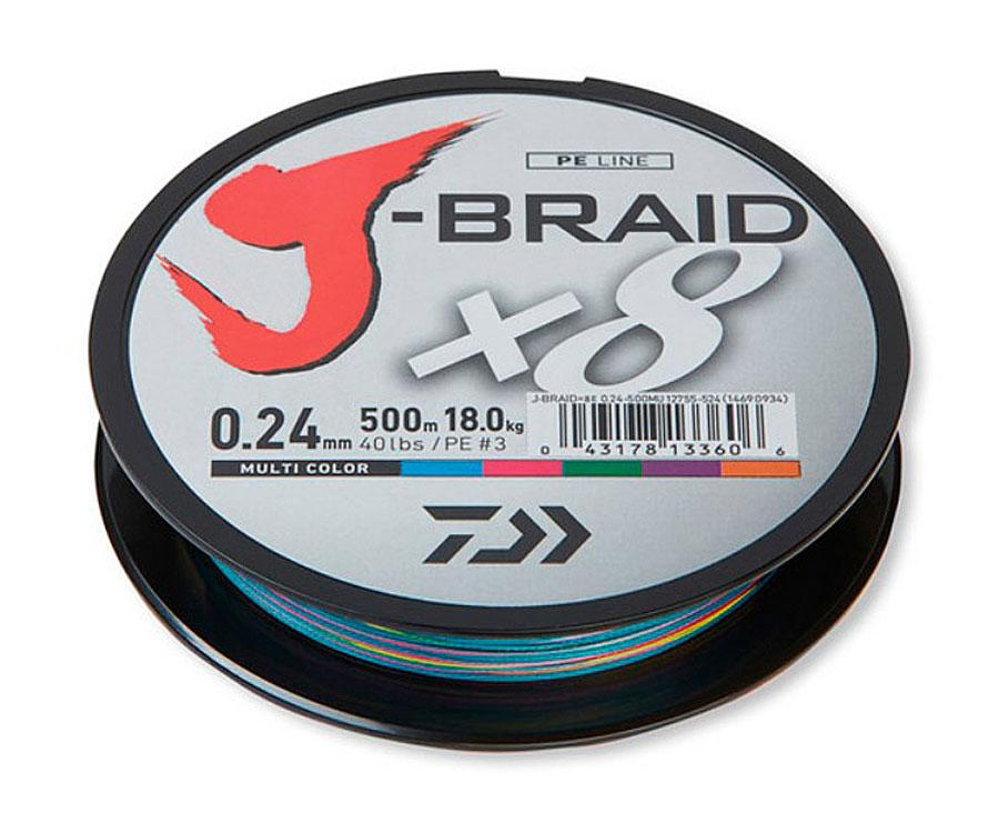Шнур Daiwa J-Braid MULTICOLOR 500м. 0,43 80lb (14690831)