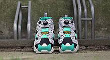 Мужские кроссовки Reebok Insta Pump Fury SP Black Flat Grey Glass Green V66115, Рибок Инстапамп, фото 3