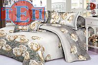 Полуторное постельное белье 3Д Микросатин Амелия