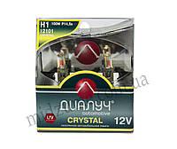 Лампа головного света H1 DUO 12V 100W P14,5S Crystal (комплект 2 шт.)