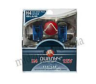 Лампа головного света H4 DUO 12V 100/90W P43T Blue (комплект 2 шт.)