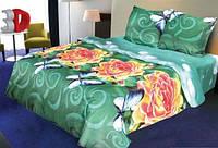 Полуторное постельное белье 3Д Микросатин Sunny rouses