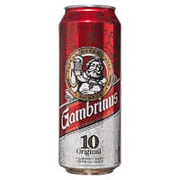 Пиво чешское Gambrinus ж/б 0,5л. 4,3%(доставка по всей Украине)