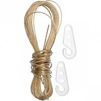 Бельевой шнур прозрачный с крючками 10м