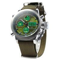 Часы мужские наручные AMST Biden+фирменная коробка в подарок nylon green-green